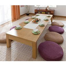 【完成品】人数に合わせて3段階に伸ばせるリビングテーブル。完成商品なのでお届け後すぐに使えます。
