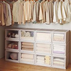 【完成品】洋服の収納にピッタリ!ワードローブ内の整理にもおすすめ。前倒れ防止機能が付いているので積み重ねてチェスト(タンス)使いでも安心。洋服収納カバー代わりに。