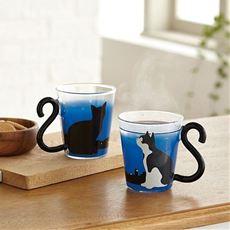 マグカップル耐熱グラス(柄違い2個組)