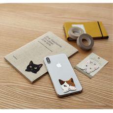 猫の刺繍ステッカー(柄違い3枚組)
