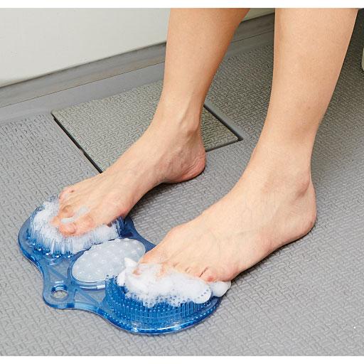 足裏洗ってすっきりマット 通販-...