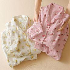 お洗濯に強い!綿毛布シャツパジャマ(日本製)