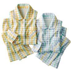 裏綿キルトシャツタイプパジャマ(日本製)