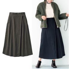 ラップ風フレアチノスカート