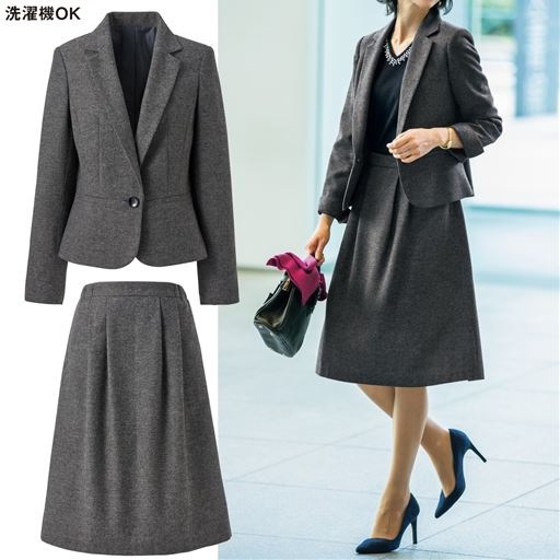 洗濯機OK!!お買い得価格がうれしい☆ 優しい印象のスーツは仕事にも学校行事にも活躍。
