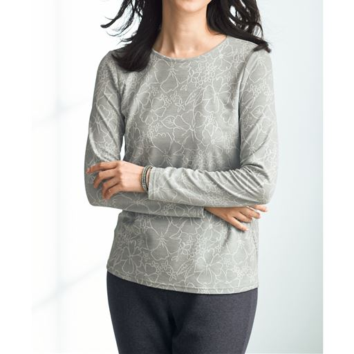 【日本製】ソフトなテンセル®混素材を、ブリスタージャカード編み機で立体的な表情に仕上ています