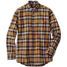 綿100%起毛素材がとろけるような肌触りのフランネルシャツ