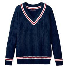 ライン入りVネックセーター(スクール・制服)
