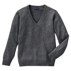 あったか毛80% Vネックニットセーター(スクール・制服)