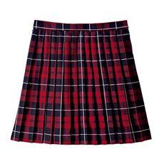 丈が選べるチェック柄プリーツスカート(スクール・制服)