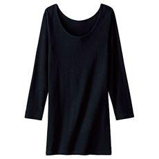お腹&腰回りをカバー!ロング丈長袖(2枚組・綿100%)