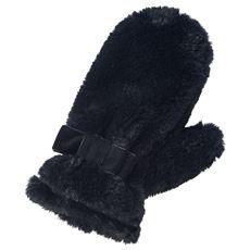 フェイクファーミトン手袋