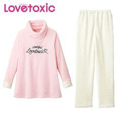 あったかフリース♪オフタートルパジャマ(Lovetoxic)