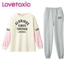 あったか裏起毛Tタイプパジャマ(Lovetoxic)