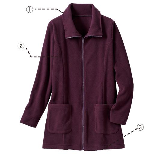 梅酒(1)它是一個可以製成立領的衣領嗎?(2)用側面切換線清楚地顯示(3)隱藏臀部的長度