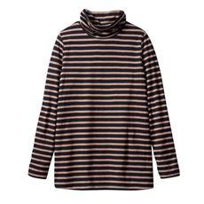 接結(2枚仕立)天竺オフタートルTシャツ(L~10L)