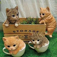 可愛い猫の置物シリーズ