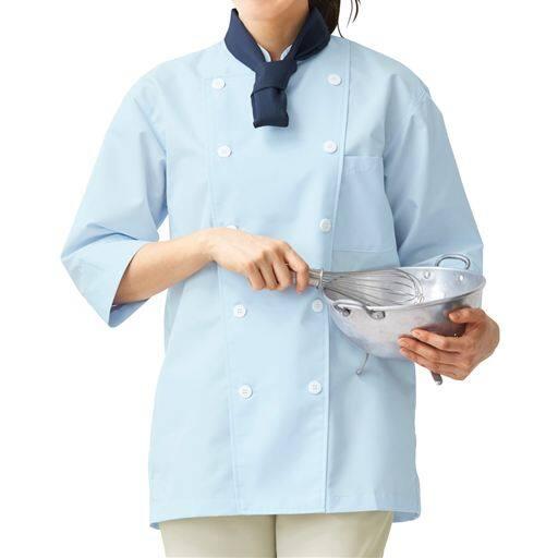 コックシャツ(7分袖)(男女兼用・SS~4L・抗菌防臭)