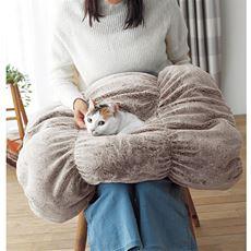 猫んぽクッション 猫を入れて湯たんぽならぬ猫んぽに!【ふかふか】【あったか気持ちいい】【毛が引っ掛かりにくい】【洗える】