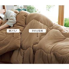 綿フラノ&タオル生地のリバーシブル毛布
