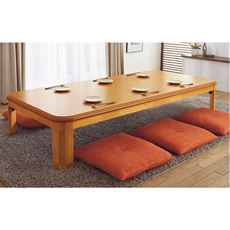 継ぎ脚付きラウンド折れ脚こたつテーブル