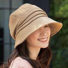 小顔に見える発熱蓄熱UVクロッシェ帽子<美活計画>