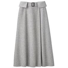 巻き風フレアスカート