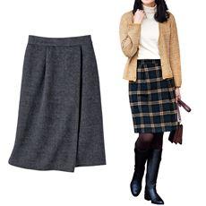 シャギーラップ風スカート(選べる2レングス)