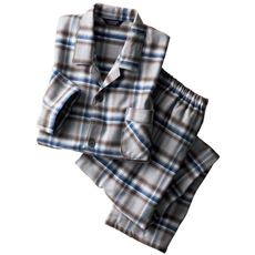 日本製 綿100%あったか中空糸 紳士シャツパジャマ