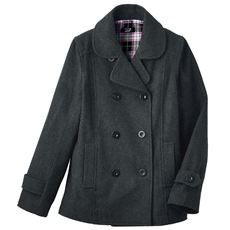 LIZ LISA doll フード裏まで可愛いピーコート(スクール・制服)