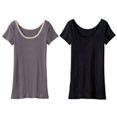 フレンチ袖(温度変化に反応する素材を使用)