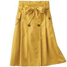 共地ベルト付きトレンチスカート