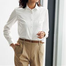 透けにくい形態安定レギュラーカラーシャツ(長袖)(抗菌防臭・UVカット)