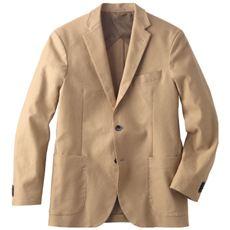 ストレッチテーラードジャケット。多ポケット仕様&起毛素材が◎