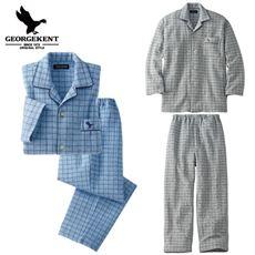 薄中わた入りあったかキルトシャツパジャマ・GEORGEKENT