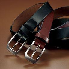 安心の日本製!1枚革の本革ベルト