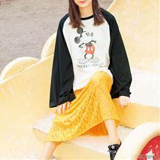 ランキング_袖フレアラグランTシャツ(ミッキーマウス)