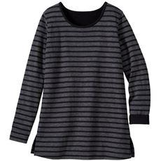 接結(2枚仕立)天竺クルーネックTシャツ(L~10L)