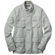 ドライ・麻混素材ジャケット マチ付きポケットを4つ装備した大人心をくすぐるデザイン