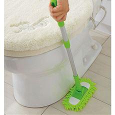手が届きにくい狭い場所もスイスイ!トイレの床掃除がラクに!