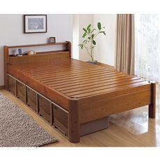 とにかく「頑丈」「堅牢」「がっちり」にこだわった天然木のすのこベッドです。耐荷重はなんと600kg! マットレスに比べて薄い布団は体圧が分散しにくく、荷重が集中しがちですが、このベッドならば「布団派」の皆さんも安心してご使用いただけます。
