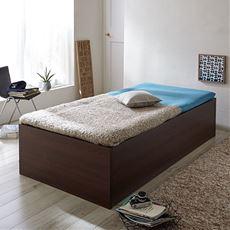 布団が干せる大量収納すのこベッド