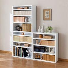 がっしり棚板のオープン書棚