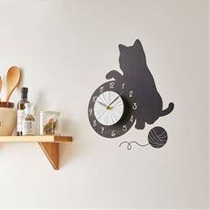 猫のウォールクロックステッカー