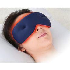 細かいビーズが光の侵入を防ぎ、目元をじんわり温め快眠対策!