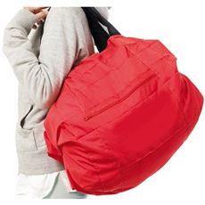 一瞬でシュパッと小さくたためる収納力バツグンのバッグ!