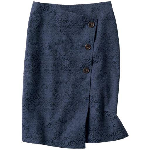 ラップ風ジャカードスカート(選べる2レングス)