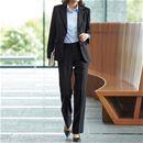 スーツ(3点セット)(ジャケット+スカート+パンツ)(洗濯機OK・事務服)