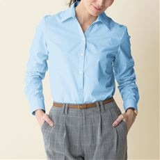 形態安定ベルカラーシャツ(長袖)(UVカット・抗菌防臭)