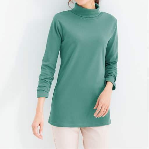 気になる紫外線をブロックする、しなやかで柔らかな肌ざわりのコットンTシャツ
